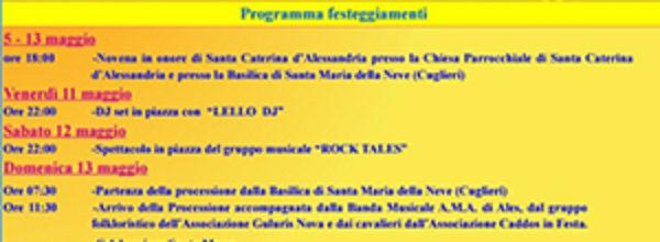 Festa di Santa Caterina di Pittinuri 11-14 Maggio 2018